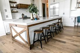 Modern farmhouse kitchen design White It Was Important To Me To Add Some Stained Wood Into The Design Of The Kitchen To Add Warmth One Way Did This Was To Accent The Island With Stained x Sita Montgomery Interiors Smi Modern Farmhouse Kitchen And Dining Nook Sita Montgomery Interiors