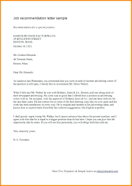 Job Application Recommendation Letter Referral Sample For A Student ...