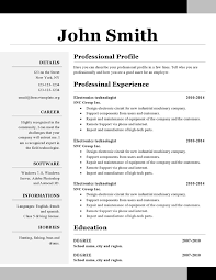 One Page Resumes Examples Sarahepps Com