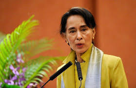 Image result for Hinh ba Aung San Sưu Kyi