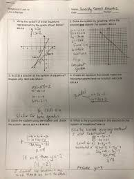 unit lessons 4 1 solving systems of equations by graphing