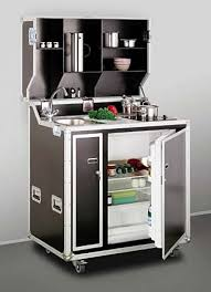 European solutions to kitchen space dilemmas. While this fold-up kitchen  may look like