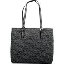 michael kors women s large bedford pocket leather shoulder bag tote black com