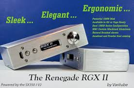 renegade rgx ii mod 200w temp limiting complete kit or vape ready