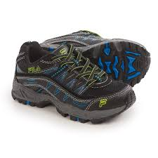 fila youth shoes. fila at peake trail running shoes (for little and big kids) in black/ youth g