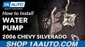How to Install Replace Engine Water Pump 1999-2013 Chevy Silverado ...
