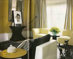 Living Room Black And White Living Interior Yellow Grey Black And ...