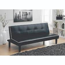coaster furniture black sofa bed with contrast piping hover to zoom