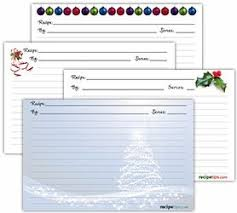 Recipe Cards Templates Printable Christmas Recipe Cards How To Cooking Tips Recipetips Com
