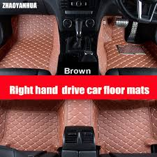 ZHAOYANHUA Right hand drive car car floor mats for Toyota Prius ...