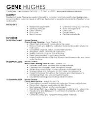 Resume Template For Cleaning Job Inspirational Residential Cleaner