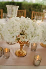 ... Stunning Image Of Wedding Table Decoration With White And Gold Table  Centerpiece : Cute Picture Of ...