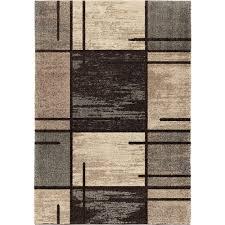 orian rugs fleet gray 5 ft x 8 ft plush pile blocks indoor area