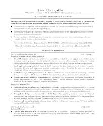 It Infrastructure Manager Resume 480115600037 Network