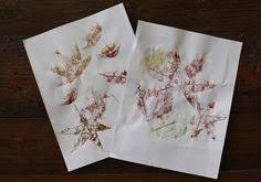 diy hammered leaf prints