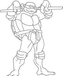Printable Teenage Mutant Donatello Ninja Turtles With Weapon ...