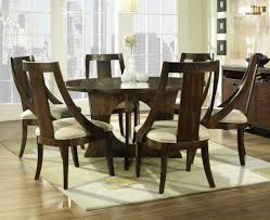 seven piece dining set: elegant  inch round dining table and white