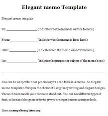 elegant memo template sample memo template word