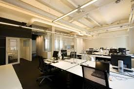 the design office. Pleasant Minimalist Office Means Valuable Assets For The Company: Modern Interior Design With Hanging