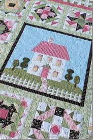 This pattern is called Patchwork Cottage by The Rabbit Factory ... & Wild Rose Cottage Quilt Adamdwight.com