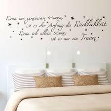 Wenn Wir Gemeinsam Träumen Wandtattoo Traum Sterne Schlafzimmer