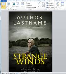 How To Make A Full Print Book Cover In Microsoft Word For
