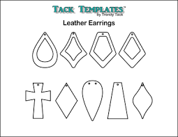 Free Leather Templates Leather Earring Patterns Pdf