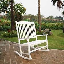 white outdoor rocking chair. Patio Outdoor Rocking Chair White 2 Seat Pool Porch Deck Scheme From Bench