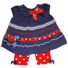 Baby Girls Knit Dress W Capri By Bonnie Jean