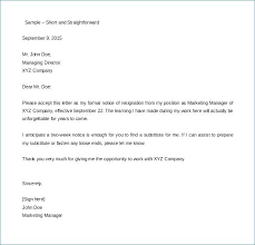 2 Weeks Notice Template Cool Letters Of Resignation Two Weeks Notice 48 Week Letter Format Co
