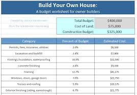 Building A Home On A Budget Construction Budget Worksheet How To Organize Your