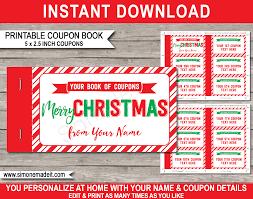 Creative Coupons For Boyfriend Printable Christmas Coupon Book Template Diy Personalized Coupons