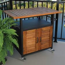 Rolling Outdoor Cabinet for Table Top Grills traditional patio furniture  and outdoor furniture