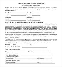 employee medical consent form template. Employee Medical Consent Form Template Medication Release Form