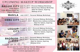 events basic makeup and advanced makeup work manila schedule 2017