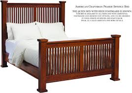 wood spindle bed. Exellent Bed Palettes By Winesburg American Craftsman Prairie Spindle Bed With High  Footboard From Walter E Smithe To Wood Q