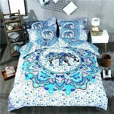 sugar skull bedding set queen size mandala fl themed bohemian bed linen sheets duvet cover in