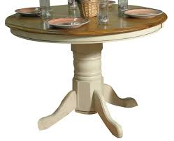 Eci Furniture Solid Oak 44 Round Single Pedestal Table In White And