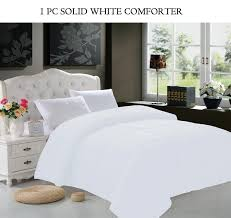 com elegant comfort luxury down alternative over filled comforter duvet cover insert hypoallergenic twin black home kitchen
