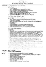 Examples Of Public Relations Resumes Public Relations Director Resume Samples Velvet Jobs