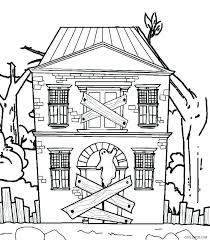 Gingerbread House Coloring Pages For Preschool House 614 Get