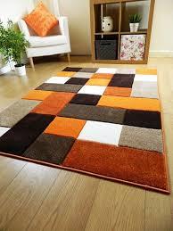 burnt orange rug. Remarkable Burnt Orange Rug At New Modern Designer Thick Brown Cream Square Design A