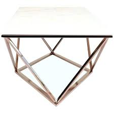 rose gold coffee table set