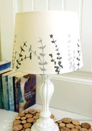 painting lamp shades with acrylic paint faux suede unique lampshades ideas on fabric