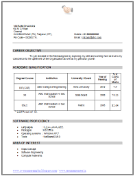 Area Of Interest In Computer Science In Resume. Simple Resume Sample For  Job resume Pinterest Simple Resume Over CV and Resume Samples with Free