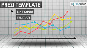 Prezi Template With A Business Line Chart Concept