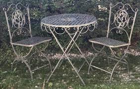 vintage foldable wrought iron garden