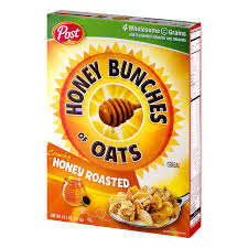 post honey bunches of oats cereal crunchy honey roasted 14 5 oz walmart
