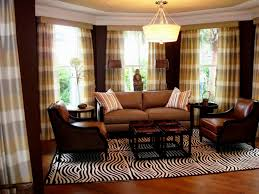 Plaid Curtains For Living Room Brown Living Room Curtain Ideas