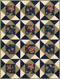 Free online jigsaw puzzle game | Jelly roll quilts | Pinterest & Maddie Jacobean Floral Navy PRE-CUT Quilt Kit Blocks Adamdwight.com